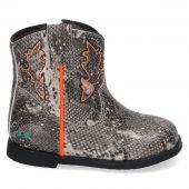 Trendy cowboylaarsje in de kleur grijs met slangenprint voor meisjes