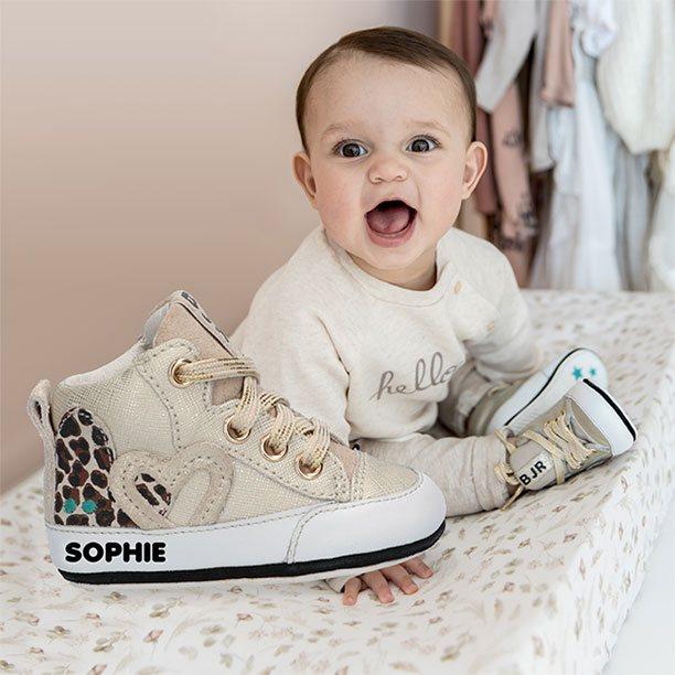 Nieuw! Gepersonaliseerde babyschoentjes